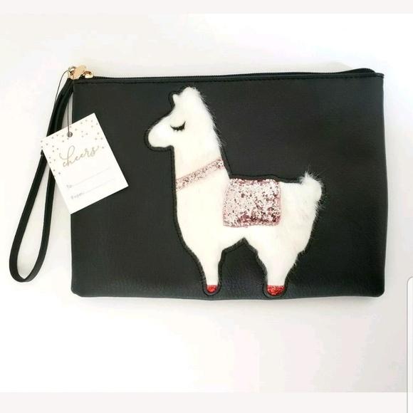13bc512e37f5 LC Lauren Conrad Alpaca Llama Wristlet NWT